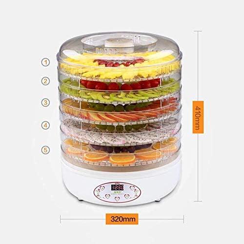 Déshydrateur de nourriture Séchoir de fruits, machine de nourriture sèche de ménage de règlement de température de plateau de 5 couches for sécher la nourriture, fruit, 250w