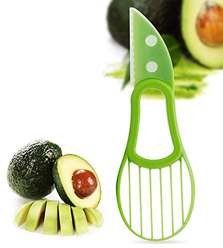 Avocado Slicer, Multifunction Fruit Slicer, Good Grips 3 in 1 Avocado Slicer, Dayocra PP Material Kitchen Avocado Tool Knife Peeler Saver Opener Pitter Scooper Cutter from Dayocra