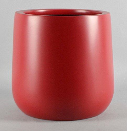 Red Round Planter Round Bottom Fiberglass Flower Pot 10 H X 9
