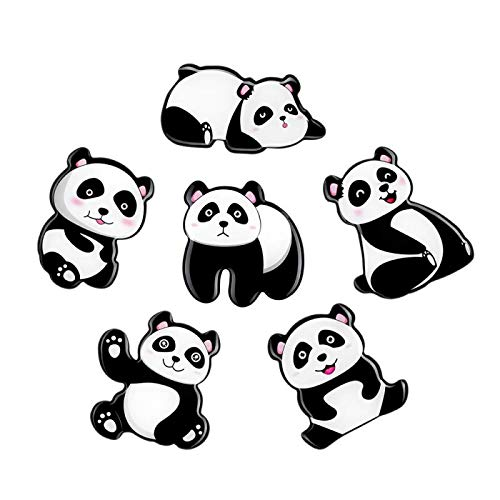 Morcart Refrigerator Magnets Cute Magnets 3D Panda Pattern (6pcs) for Kitchen Office Supplies Student Locker Menu Message Board Whiteboard Holiday Gifts -