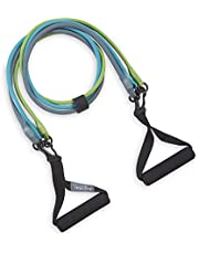 Gaiam Restore 3-in-1 Resistance Band Kit | Exercise Cord with Comfort-Grip Foam Handles & Easy-Adjust Clips for High Intensity Training