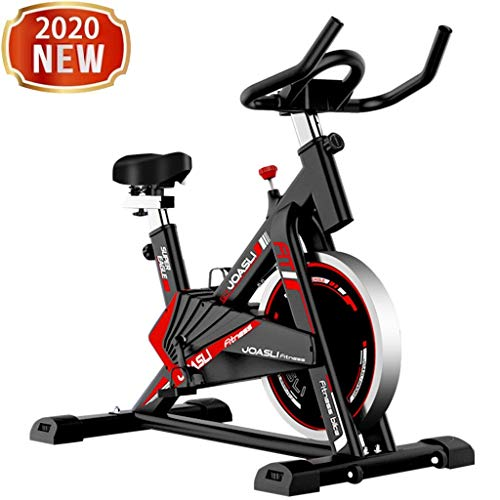 Indoor Cycling Bike Stationary - Women/Men Home Ultra-quiet Fitness Bicycle with Comfortable Seat Cushion, Tablet Holder & LCD Monitor - Gym Exercise Bike for Cardio Workout, Endurance Training