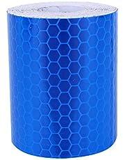 Reflecterende tape, Dgtrhted 5cm × 3 meter reflectortape Zelfklevende sticker Hoge zichtbaarheid voor voertuigen Auto's Trailers Fietsen Helmen - Blauw