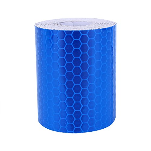 Reflective Safety Warning Tape Fluorescent Conspicuity Roll Sticker Film Blue 1.97 × 118 inch / 5 × 300 cm for $<!--$7.89-->