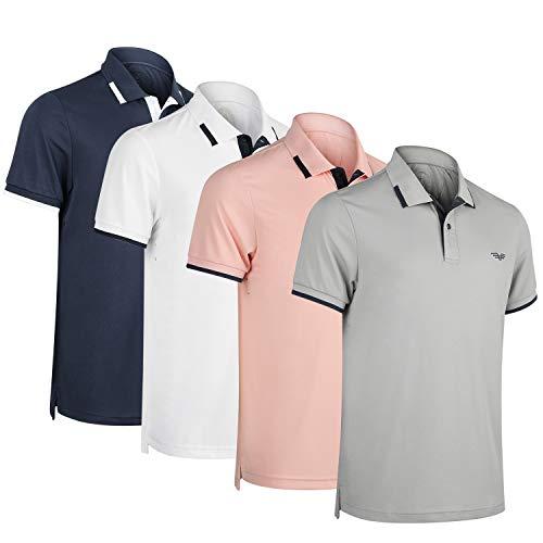 Albert Morris Men Polo Shirt 4 Pack - Aeronautical Pack, Short Sleeve (Small) (Para Hombres)