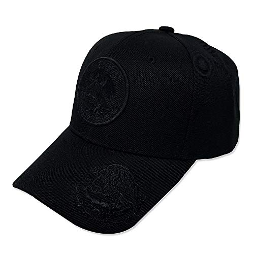 GREAT CAP Mexico Constructed Baseball Cap - Classic Mexico Flag Color Design Adjustable Hat Daily Fashionable Futbol Cap - Double Black Mexico Eagle Logo