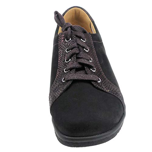 Ganter Chaussures De Noir Ville Lacets À Femme Pour 6w6BqpnR