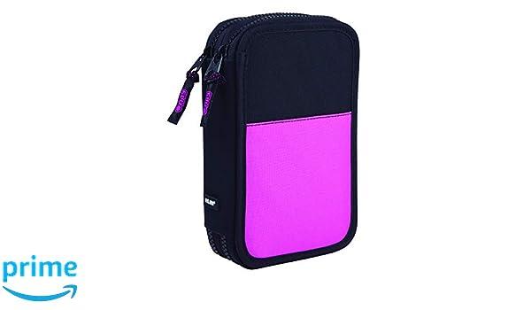 MILAN Plumier 2 Pisos con Contenido Compact Fluo Rosa ...