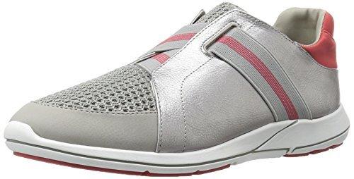 Aerosoles Women's Side Track Fashion Sneaker, Silver Combo, 8.5 M US