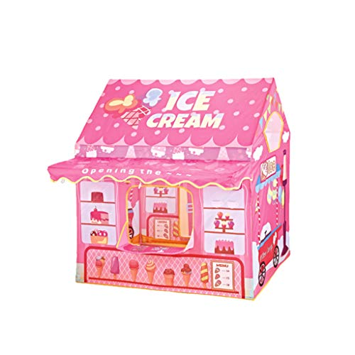 Kids Tent, Cute Ice Cream Bakery Tent Educational Children's Tent House, Kids Pop Up Tent Boys Girls Toys Indoor Outdoor Playhouse Camping