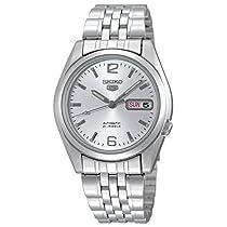 Seiko Series 5 Automatic White Dial Mens Watch SNK385