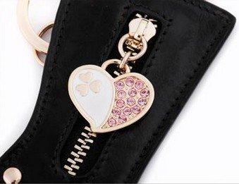 "eBuy Milesi D0041 Genuine Leather Creative Pendant Cute Boots Key Chain, 4.33""x2.16""(Black), Car Keychain, Great Gifts Bag Ornament"