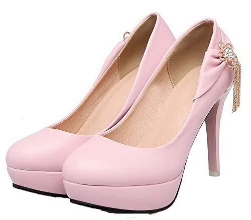 Puro Rosa flats Alto Tacco Ballet Gmmdb006471 Agoolar Donna Ut1BnqAq