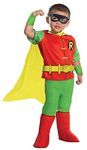 Rubie's Costume DC Comics Toddler Deluxe Robin Costume, X-Small, (Robin Dc Costumes)
