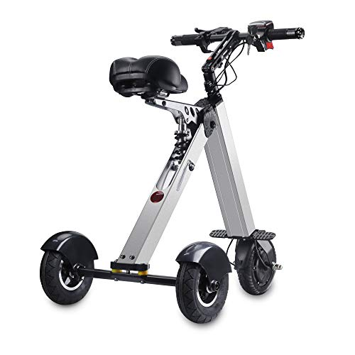 TopMate ES31 Electric Scooter Mini Tricycle, Key Switch 3 Gears, Rear Axle 15.7 Inch, for Mobility Assistance and Travel