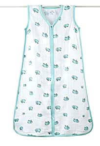 Aden and Anais 1 Tog Jungle Jam Elephant Classic Muslin Sleeping Bag, Multicolour, Large