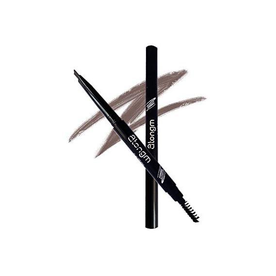 atongm Eyebrow Pencil, Cosmetics Natural 24 Hours Long Lasting Waterproof Eyebrow Pencils, Dark Brown Eyebrow Pencil