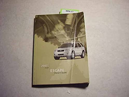 2007 ford escape owners manual ford amazon com books rh amazon com ford escape owners manual 2006 ford escape owners manual 2009