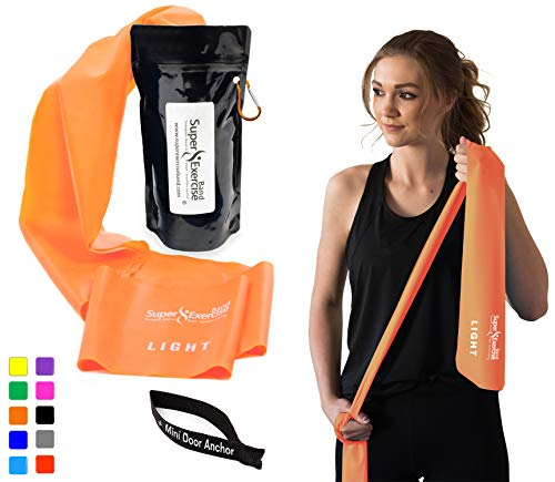 Super Exercise Band Light+ Orange 7 ft. Long Latex Free Resi