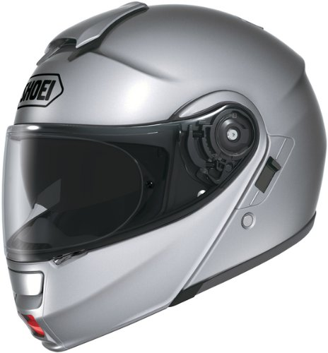 Modular Helmet Shoei Multitec - Shoei Metallic Neotec Road Race Motorcycle Helmet - Light Silver / 2X-Large