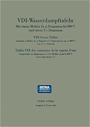 Vdi Wasserdampftafeln Bis 800 Grad C Vdi Steam Tables Tables Vdi