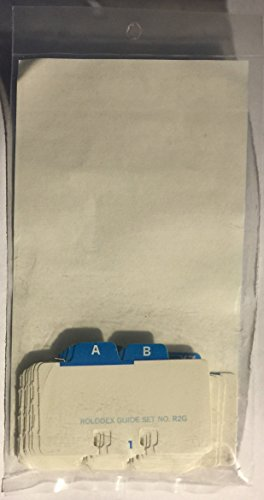 24 Index Tabs No. R2G for Rolodex Brand 1 1/2 x 2 3/4 in. for R-202 Card File by Rolodex (Image #1)