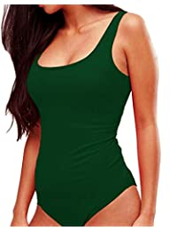 Womens Sexy Scoop Neck Bodysuits Jumpsuits