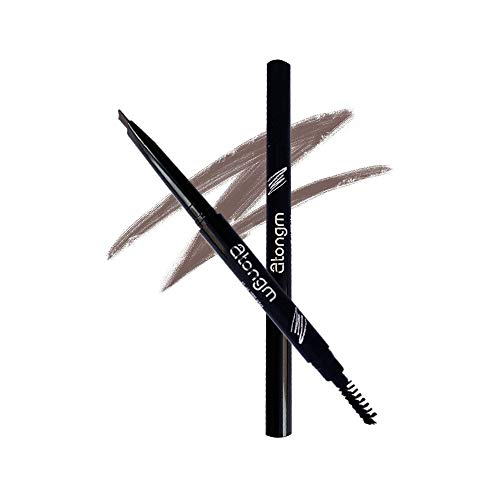 atongm Eyebrow Pencil, Cosmetics Natural 24 Hours Long Lasting Waterproof Eyebrow Pencils, Dark Brown Eyebrow Pencil with Brush – (Pack of -1) (02# Dark Brown)