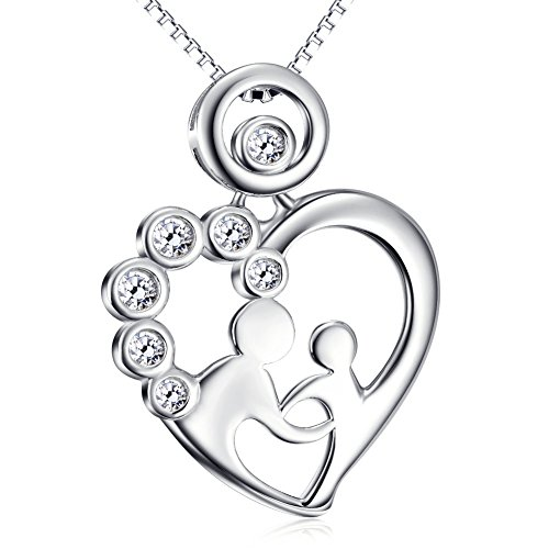mother-and-child-necklace-sterling-silver-mothers-love-cubic-zirconia-heart-pendant-necklace-18