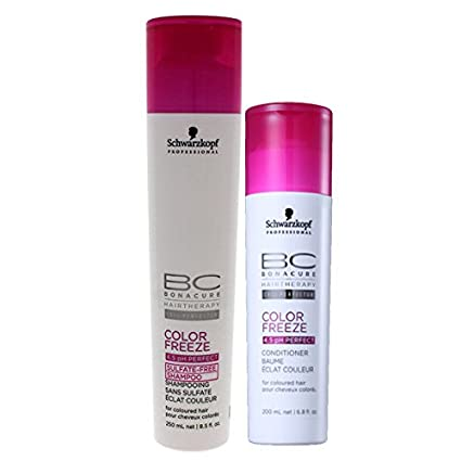 9fb6f350dc Buy Schwarzkopf Professional BC color Freeze Sulfate Free Shampoo +  Conditioner - 450ml (Combo) Online at Low Prices in India - Amazon.in