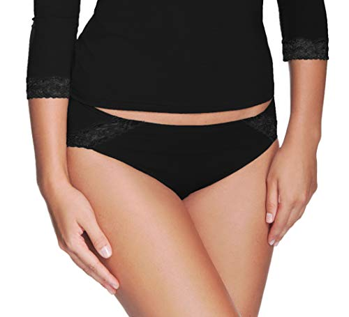 e.Femme Damen Slip LILKA aus Lenzing® Micromodal, mit Spitze