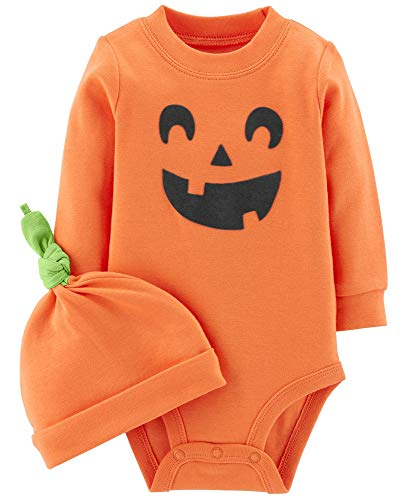 Carter's 2-Piece Pumpkin Hat and Collectible Bodysuit (Newborn, Pumpkin) ()