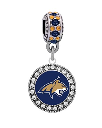 (Final Touch Gifts Montana State University Logo Charm Fits European Style Large Hole Bead Bracelets)