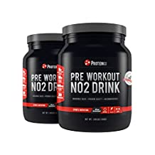 Pre Workout NO2 Drink | Pre Workout Supplement | 2 x 1.98 Lbs | Punch & Watermelon