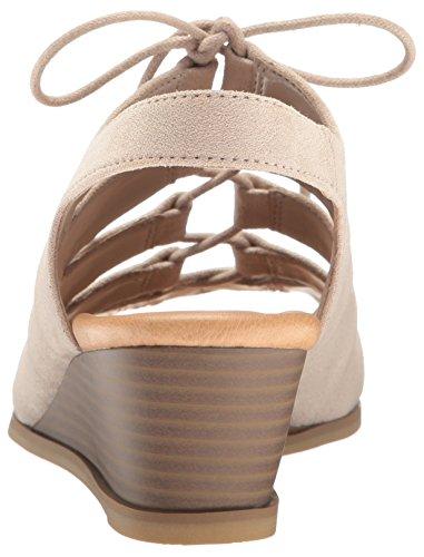 Dr. Scholl's Women's Court Wedge Sandal Taupe Microfiber ES0TLHwCi