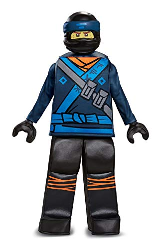 Disguise Jay Lego Ninjago Movie Prestige Costume, Blue, Medium (7-8) -