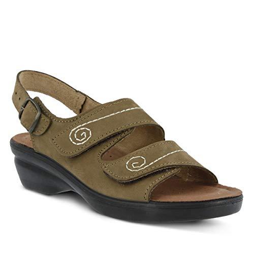 Spring Step Women's Belamar Sandal, Olive, 39 EU/8.5 M US (Spring Step Olive)