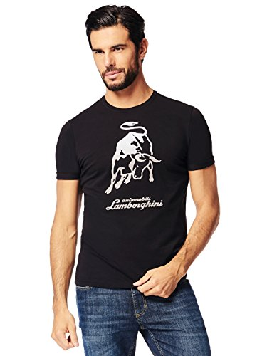 LAMBORGHINI Men's Big Bull T-Shirt Black (XL)