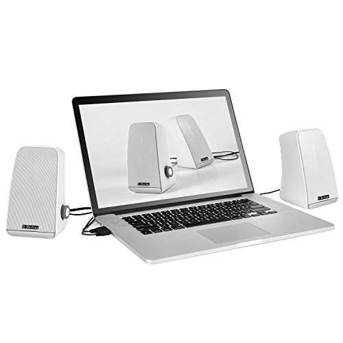 Besteye BE-829 USB Speakers for Computer Laptop Notebook Plug and Play with Enhanced Bass Resonator Stereo Sound PC Computer Speaker White by Besteye (Image #2)