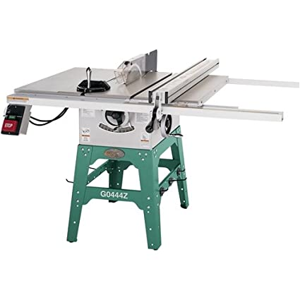 grizzly g0444z 10 table saw 2 hp single phase 220v w cast wings rh home amazon com