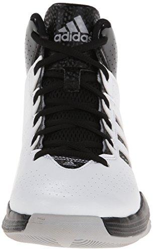 adidas Performance Herren Cross 'Em 3 Basketballschuh Weiß / Schwarz / Hell Onix