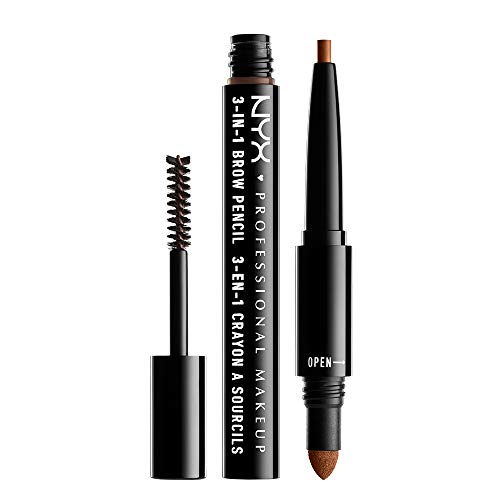 NYX Professional Makeup 3 In 1 Brow Pencil, Auburn