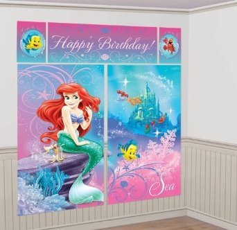 Disney Princess Little Mermaid Ariel Scene Setter Wall Decorating Mural Kit Part 29