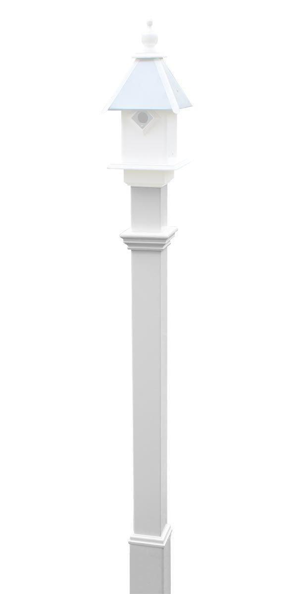 New England Decorative Mounting Post, White, 5'