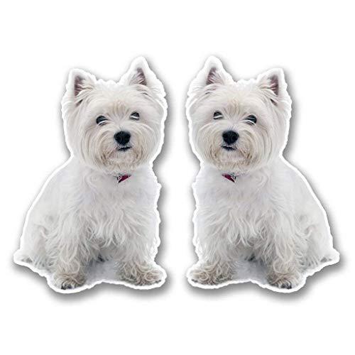 "West Highland Terrier Vinyl Sticker Decal Laptop Car Bumper Sticker Travel Luggage Car iPad Sign Fun 5"""
