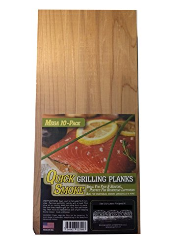 Bridgewater Gourmet Cedar Planks for Grilling - Cedar BBQ Grilling Planks By Quick Soaking