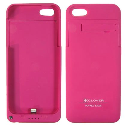 Clover Power Plus Rechargeable 2200mAH External Battery Case for iPhone SE, 5S, 5 (Rasberry)
