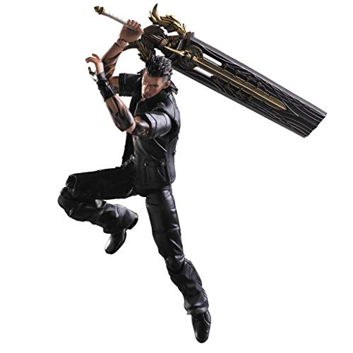 Siyushop Final Fantasy: Gladiolus Play Arts Kai Action Figure - Equipped with Weapons and Replaceable Hands - High 28CM (Best Final Fantasy 15 Weapons)