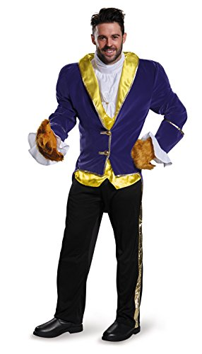 Disguise Men's Beauty and The Beast Prestige Costume, Blue, X-Large