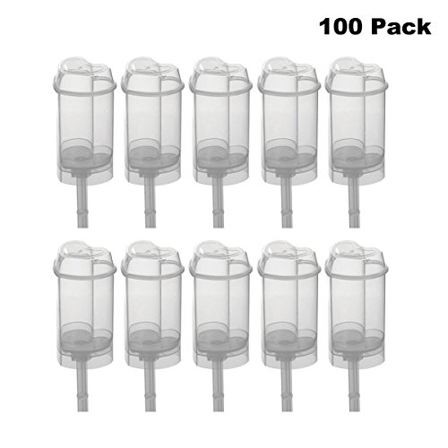 (Clear Push-Up Cake Pop Shooter (Push Pops) Plastic Containers Pack of 100 (100 pack Heart))